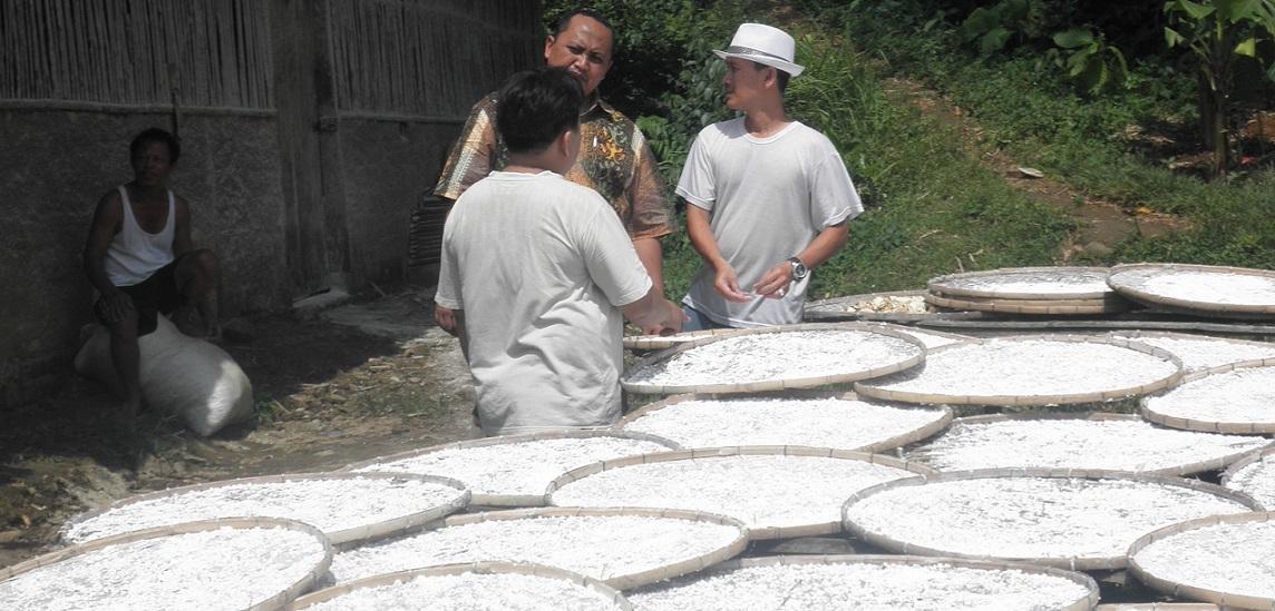 Bersama petani pembuat tepung singkong